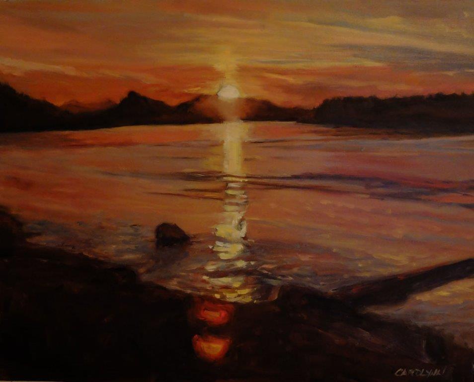 """View From Saturna Island"" original fine art by Carolynn Doan"