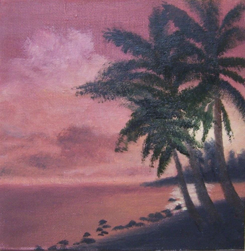 """Tropical Sunset #2"" original fine art by John Marcum"
