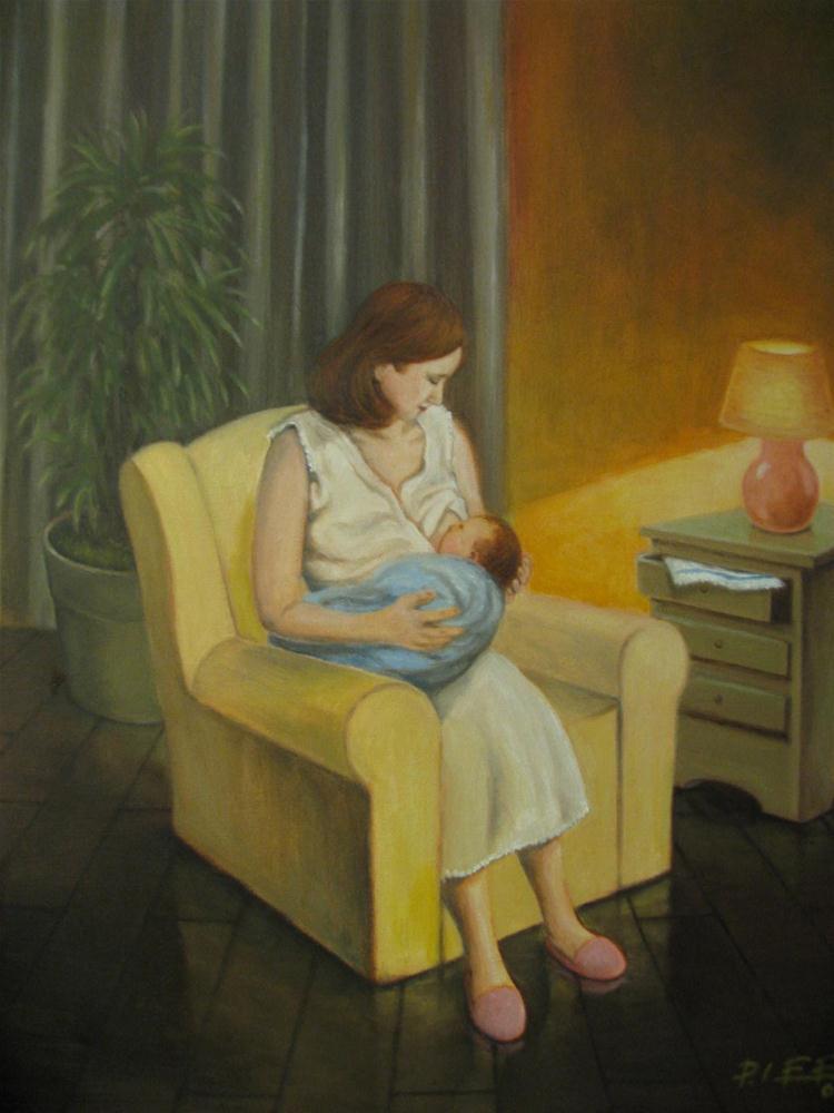 """Feeding Time"" original fine art by Peter Lee"