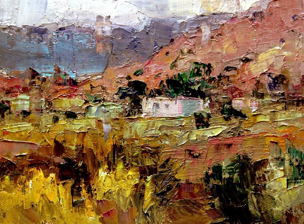 """New Mexico Casa"" original fine art by Julie Ford Oliver"