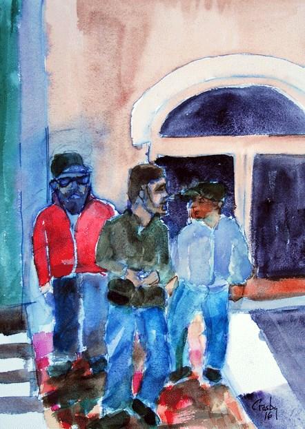 """Brazos Hipster Crossing"" original fine art by Donna Crosby"