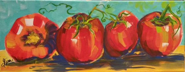 """""""You say Tomato-I Say Toe-Ma-Toe  Day 10 in the 30 Day Challenge"""" original fine art by Terri Einer"""