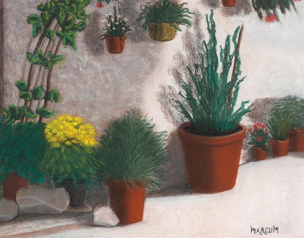 """Stucco and Clay"" original fine art by John Marcum"