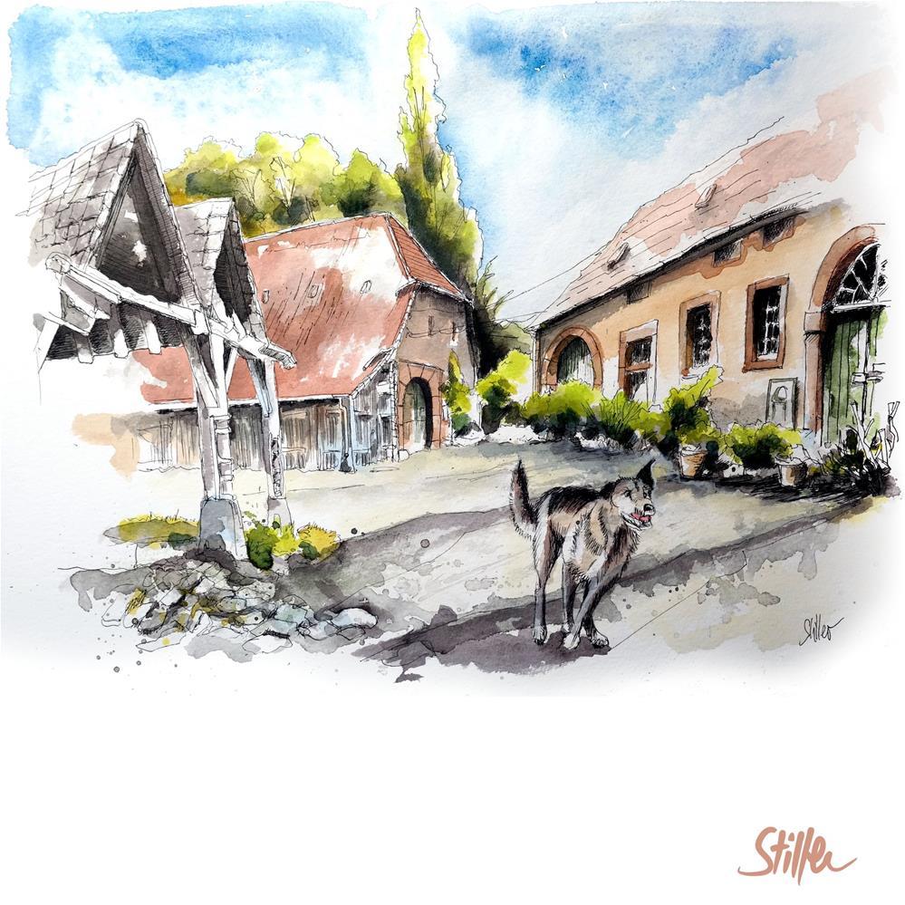 """""""3575 Ohr Manor"""" original fine art by Dietmar Stiller"""