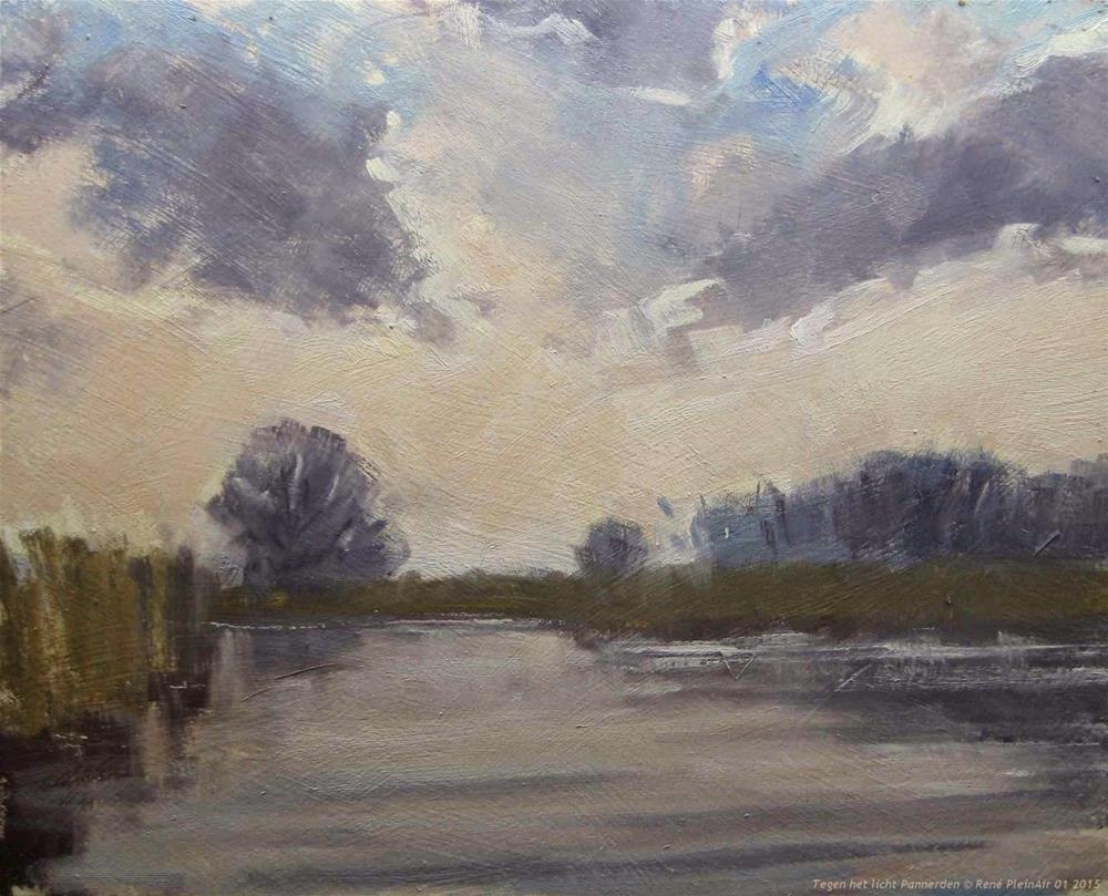 """""""Against the light Pannerden The Netherlands"""" original fine art by René PleinAir"""