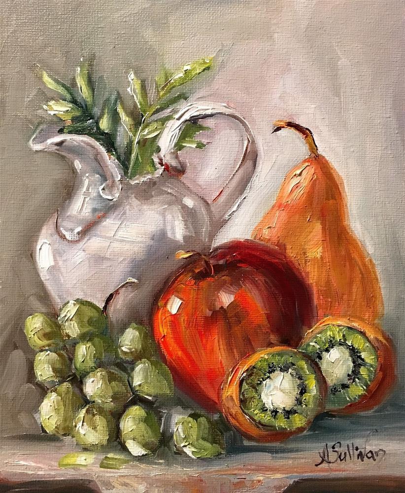 """An Apple A Day And Then Some still life painting by Alabama Artist Angela Sullivan"" original fine art by Angela Sullivan"