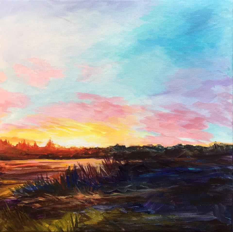 """Here Comes the Sun"" original fine art by Lauren Kuhn"