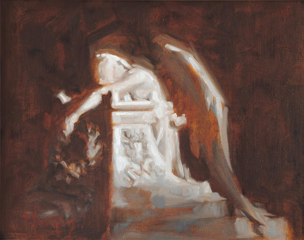 """Angel of Grief, Stanford University, Palo Alto, CA"" original fine art by Cecile W. Morgan"