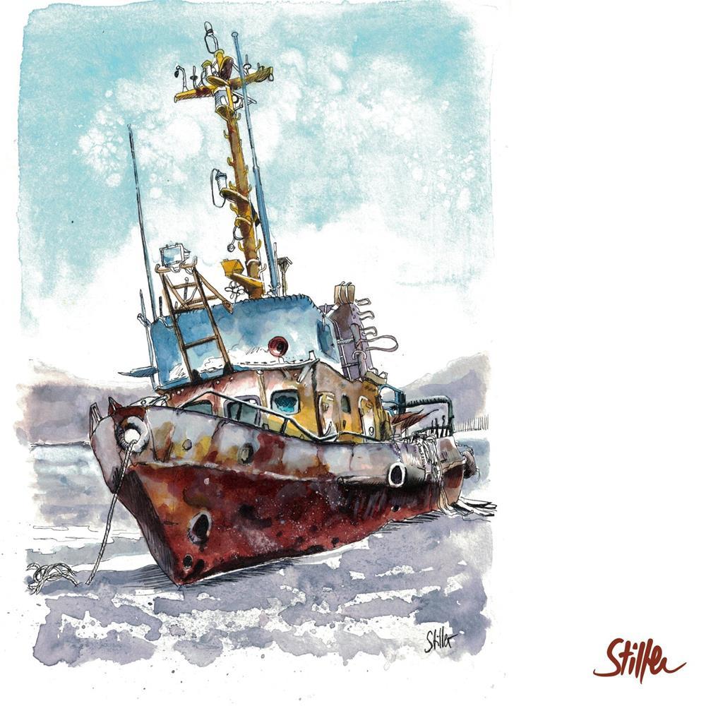 """3460 Abandoned Ship Two"" original fine art by Dietmar Stiller"