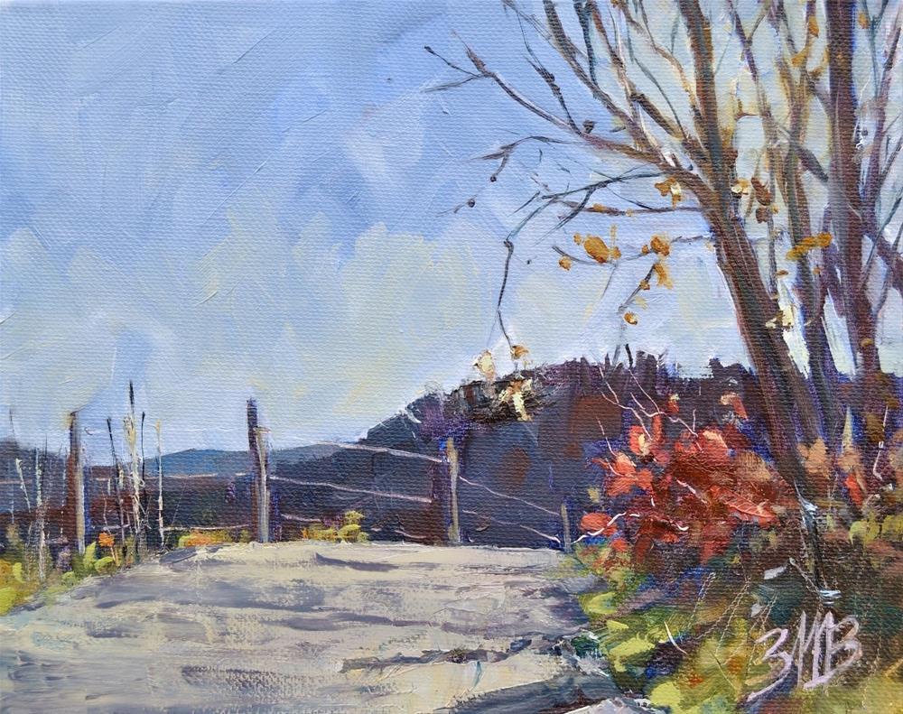 """""""Jack Straw Road"""" original fine art by Brienne M Brown"""