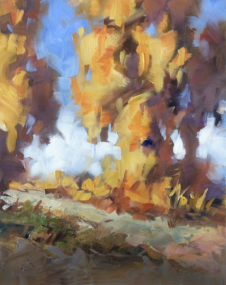 """""""AUTUMN IS IN THE AIR"""" original fine art by Tom Brown"""