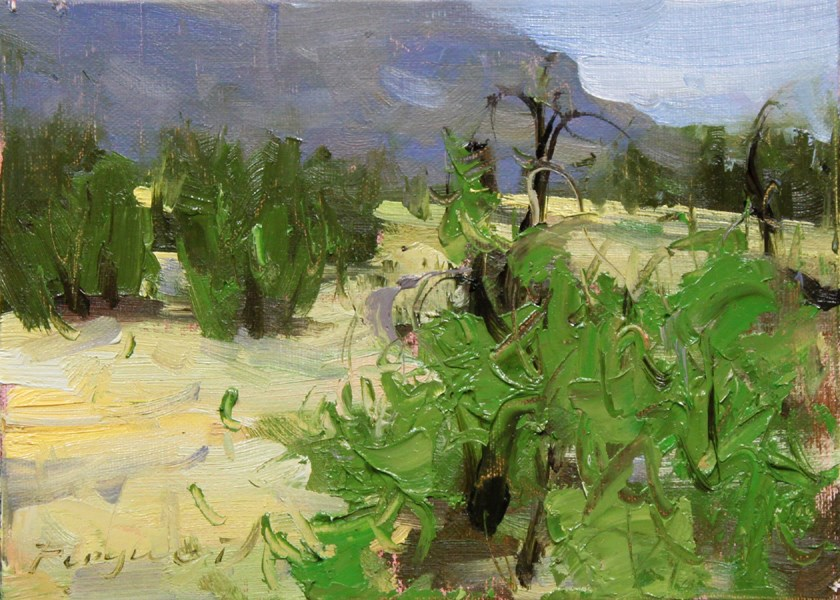 """Small landscape 05-06-2013"" original fine art by Fongwei Liu"