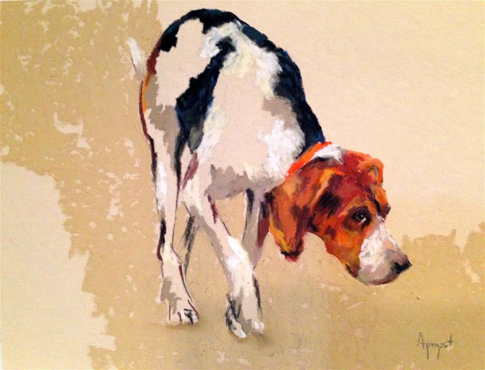 """""""Nose to the Ground"""" original fine art by Anne Marie Propst"""