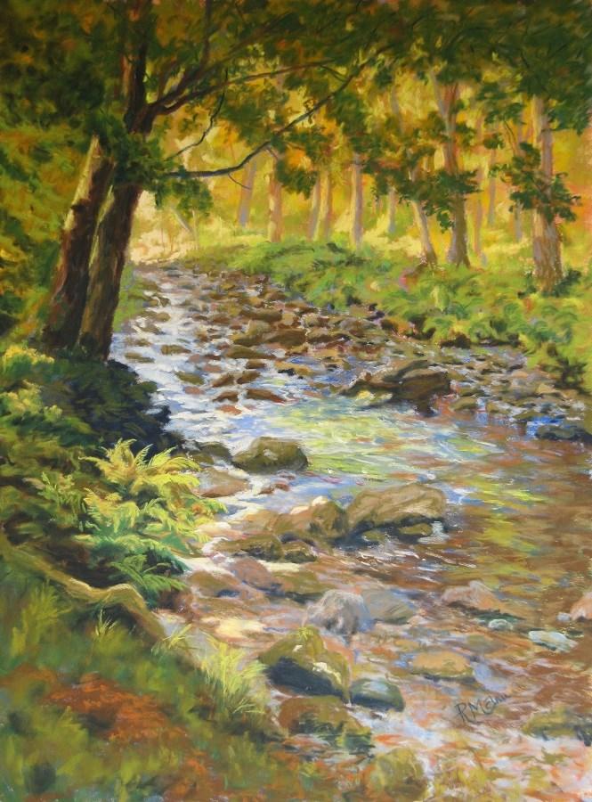 """""""A Walk by the Beck"""" original fine art by Ruth Mann"""