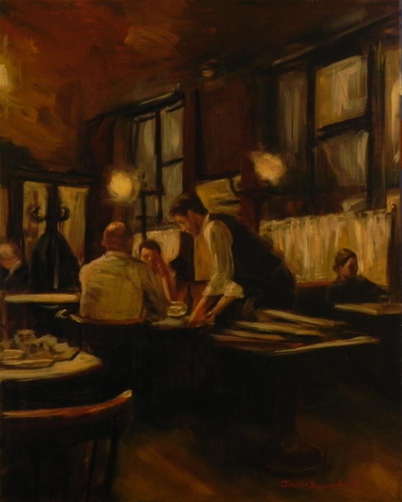 """""""Cafe Hawelka at Night"""" original fine art by Jonelle Summerfield"""