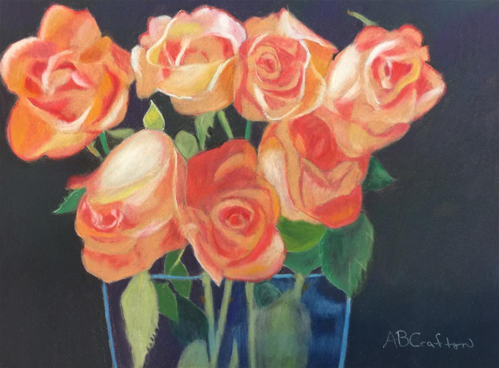 """Peachy Glow"" original fine art by Arlene Crafton"