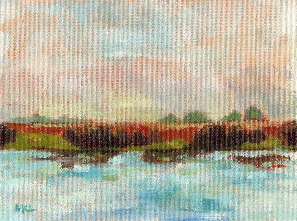 """Green Lake"" original fine art by Marlene Lee"