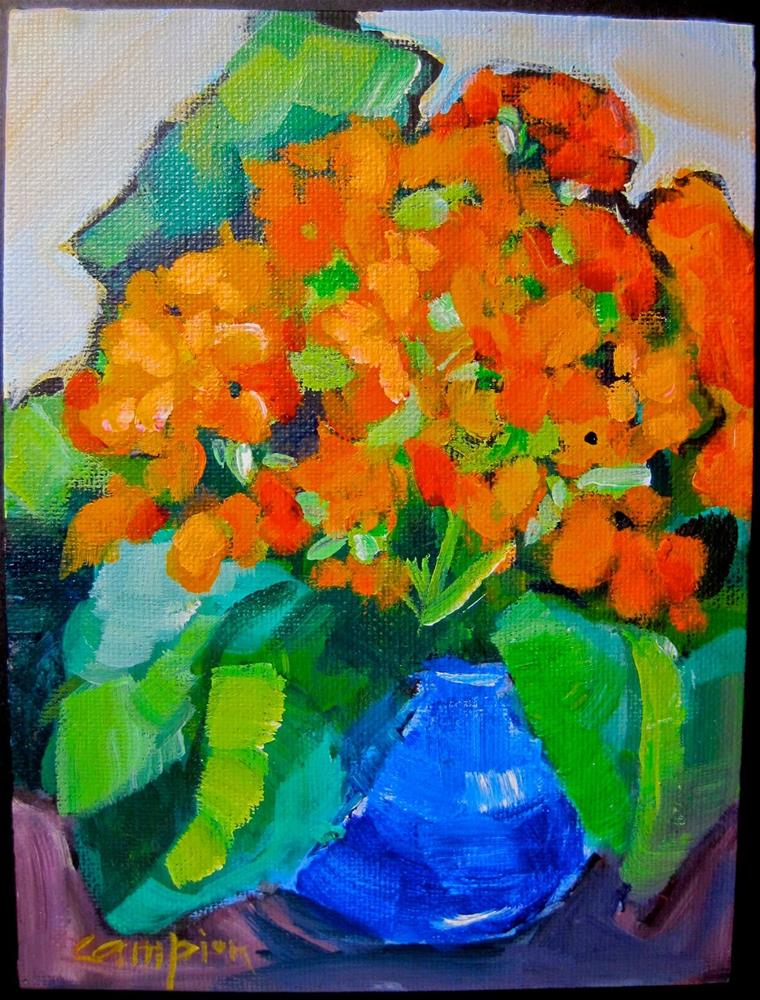 """322 Kolanchoe"" original fine art by Diane Campion"
