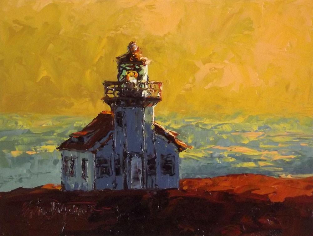 """""""Pt. Cabrillo Sundown"""" original fine art by Erin Dertner"""