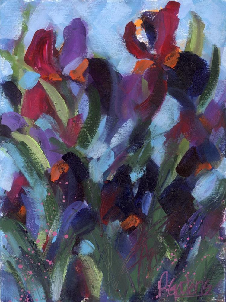 """""""Iris Abstract"""" original fine art by Pamela Gatens"""