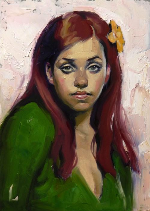 """Flora"" original fine art by John Larriva"