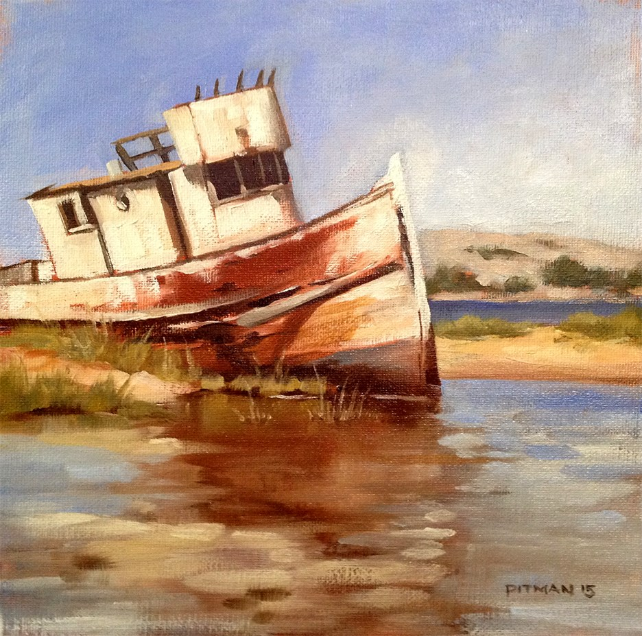 """Point Reyes Wreck"" original fine art by Tom Pitman"