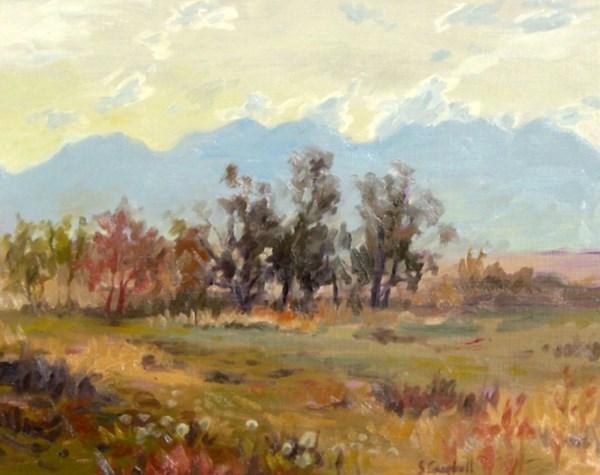 """Morning at Malin's Farm"" original fine art by Susan N Jarvis"