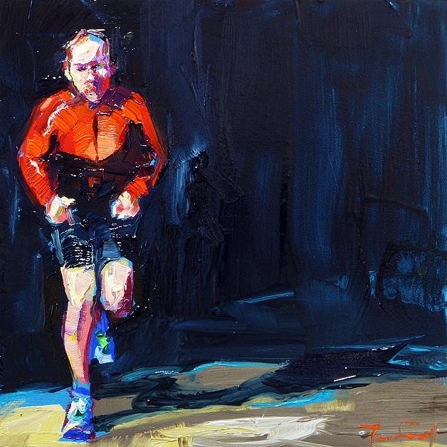 """Jogger"" original fine art by Jurij Frey"