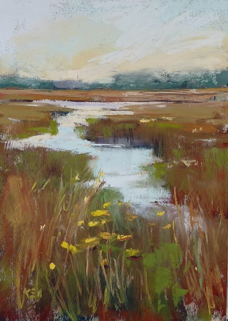 """""""How to Paint Grass with Pastels...New YouTube Video"""" original fine art by Karen Margulis"""