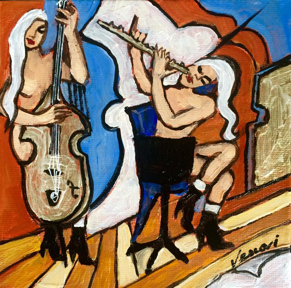"""""""The Golden Cello"""" original fine art by Valerie Vescovi"""