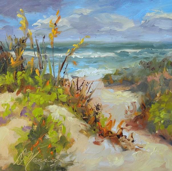 """Gusty Gulf Day"" original fine art by Diane Mannion"