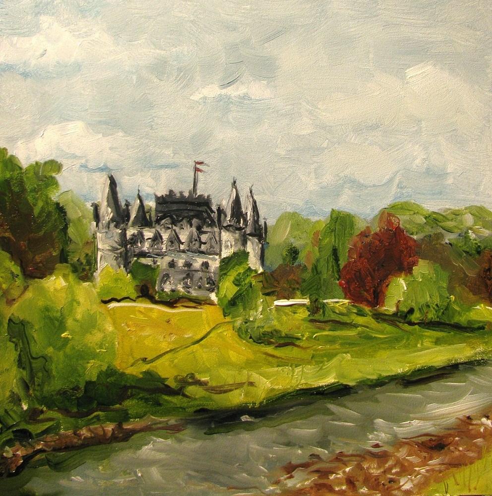 """""""Inveraray Castle - Argyll Scotland"""" original fine art by Susan Elizabeth Jones"""
