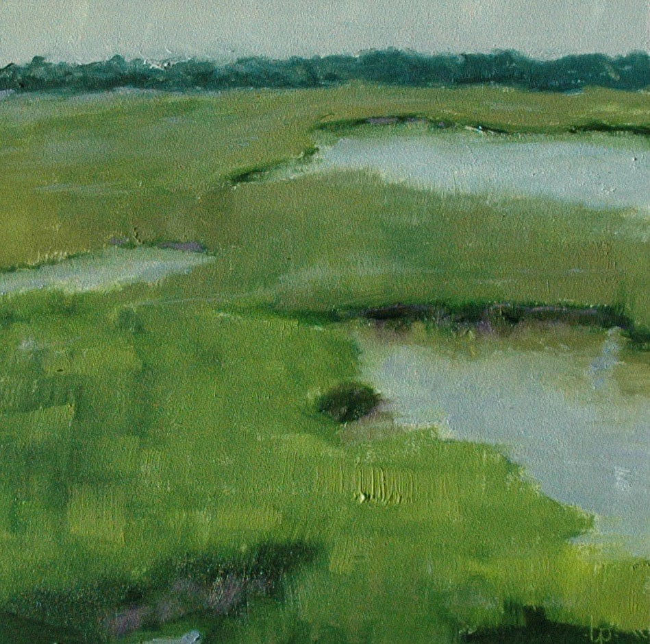 """THE MARSH"" original fine art by Linda Popple"