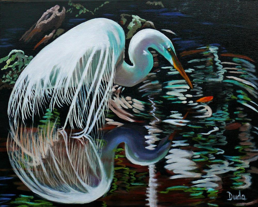 """Narcissus"" original fine art by Susan Duda"