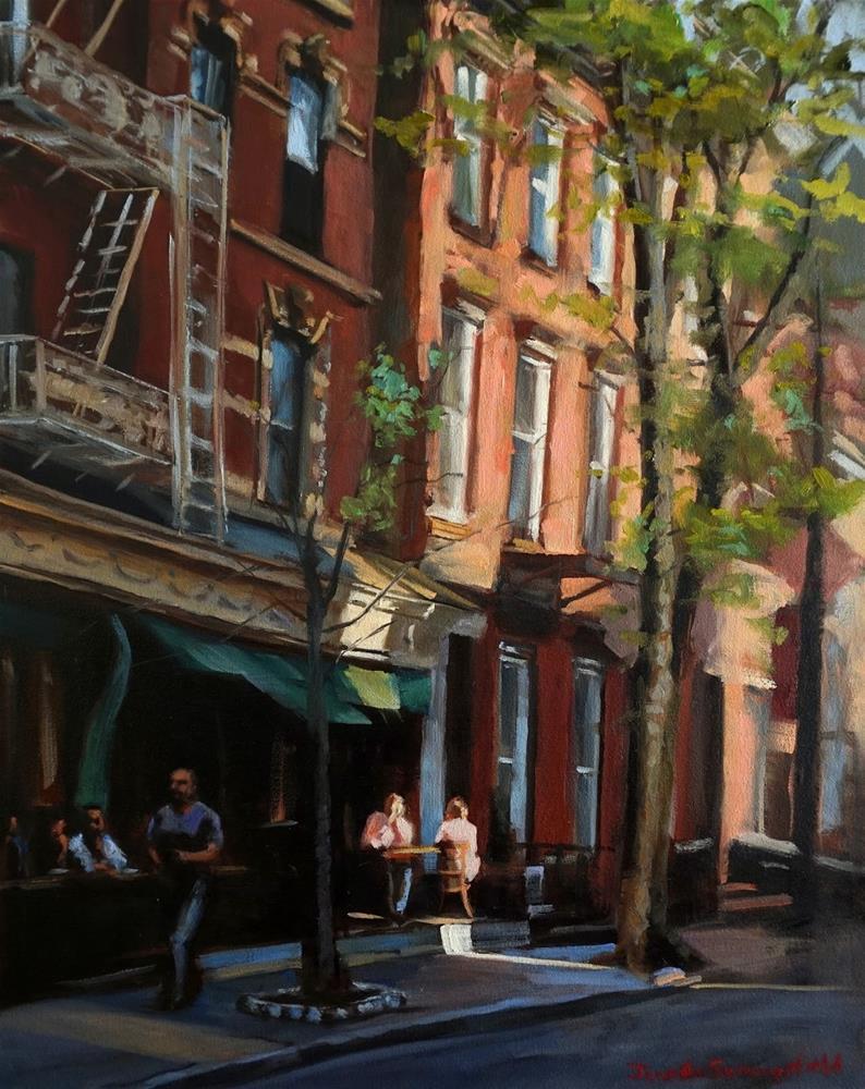"""""""A Street in Greenwich Village"""" original fine art by Jonelle Summerfield"""