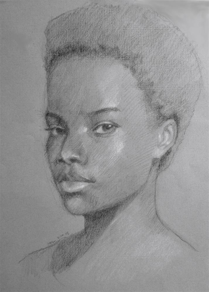 """""""High School Model"""" original fine art by Marlene Lee"""