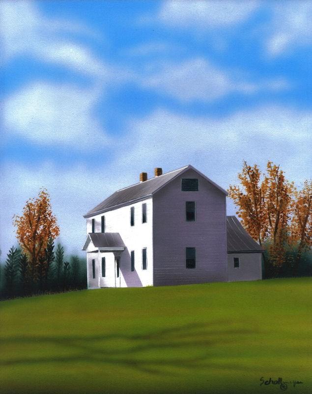 """""""Autumn Splender"""" original fine art by Fred Schollmeyer"""