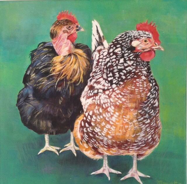 """Anka and Trudi"" original fine art by Marietta Modl"
