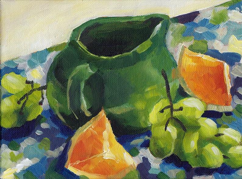 """The Green Jug"" original fine art by J M Needham"