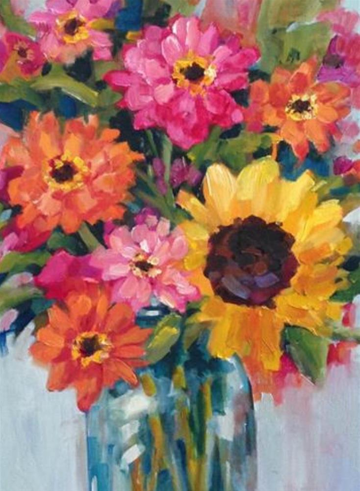 """Fresh Flowers"" original fine art by Libby Anderson"