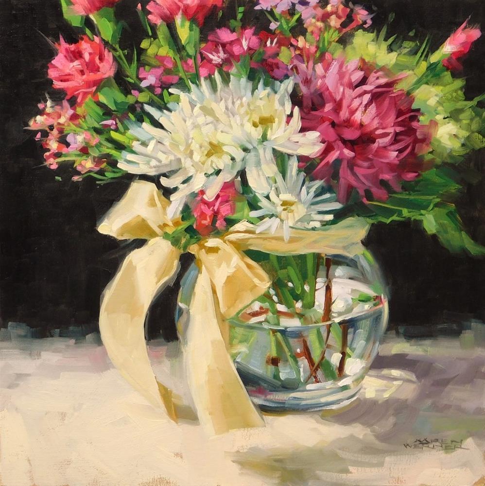 """""""Vanilla Ribbon"""" original fine art by Karen Werner"""