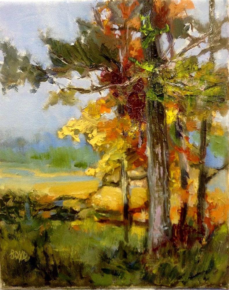 """""""Fall Folly"""" original fine art by Cathy Boyd"""