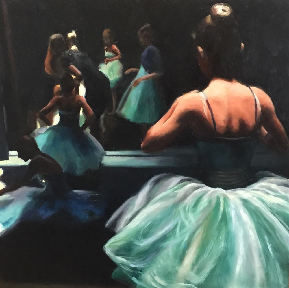 """""""Waiting Off Stage"""" original fine art by Cheryl Meehan"""