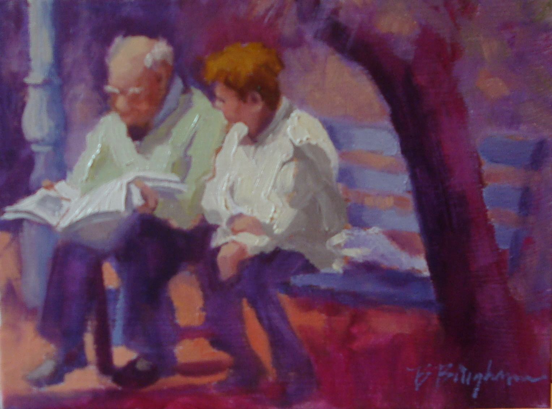 """whatsitsay"" original fine art by Bruce Bingham"