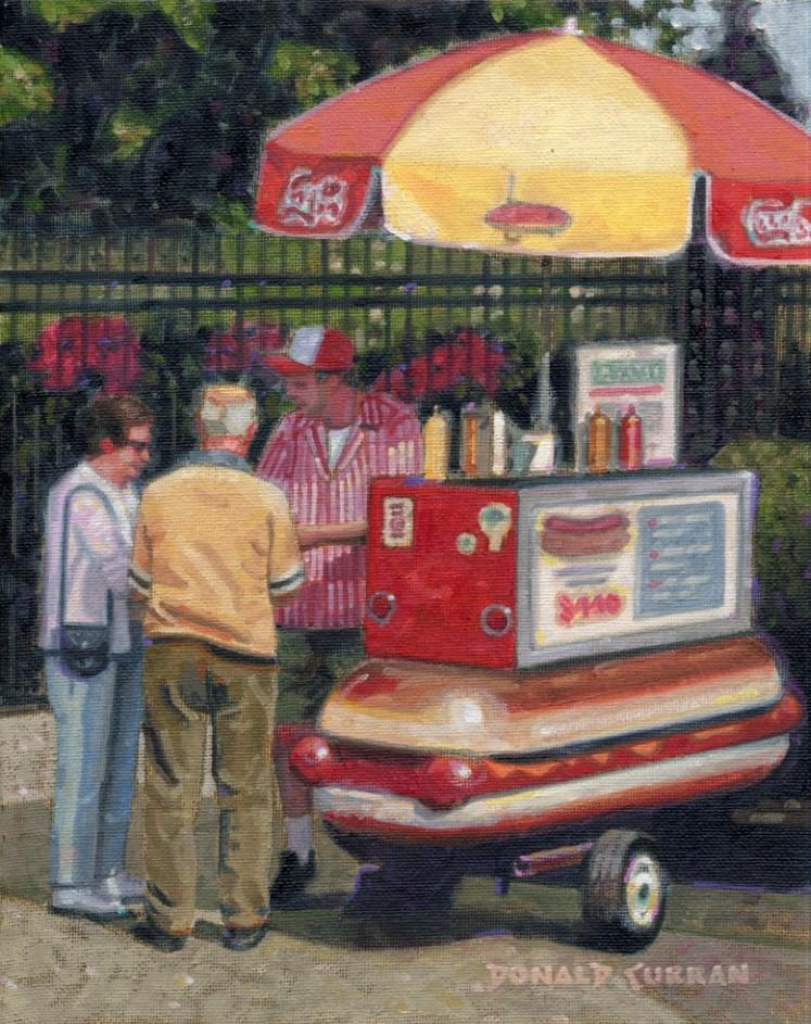 """The Hot Dog Guy"" original fine art by Donald Curran"