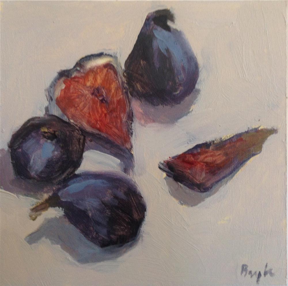 """Black figs"" original fine art by Christine Bayle"