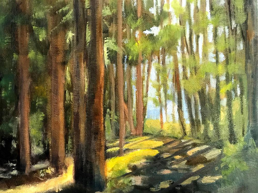 """sunshine through the trees"" original fine art by Betty Argiros"