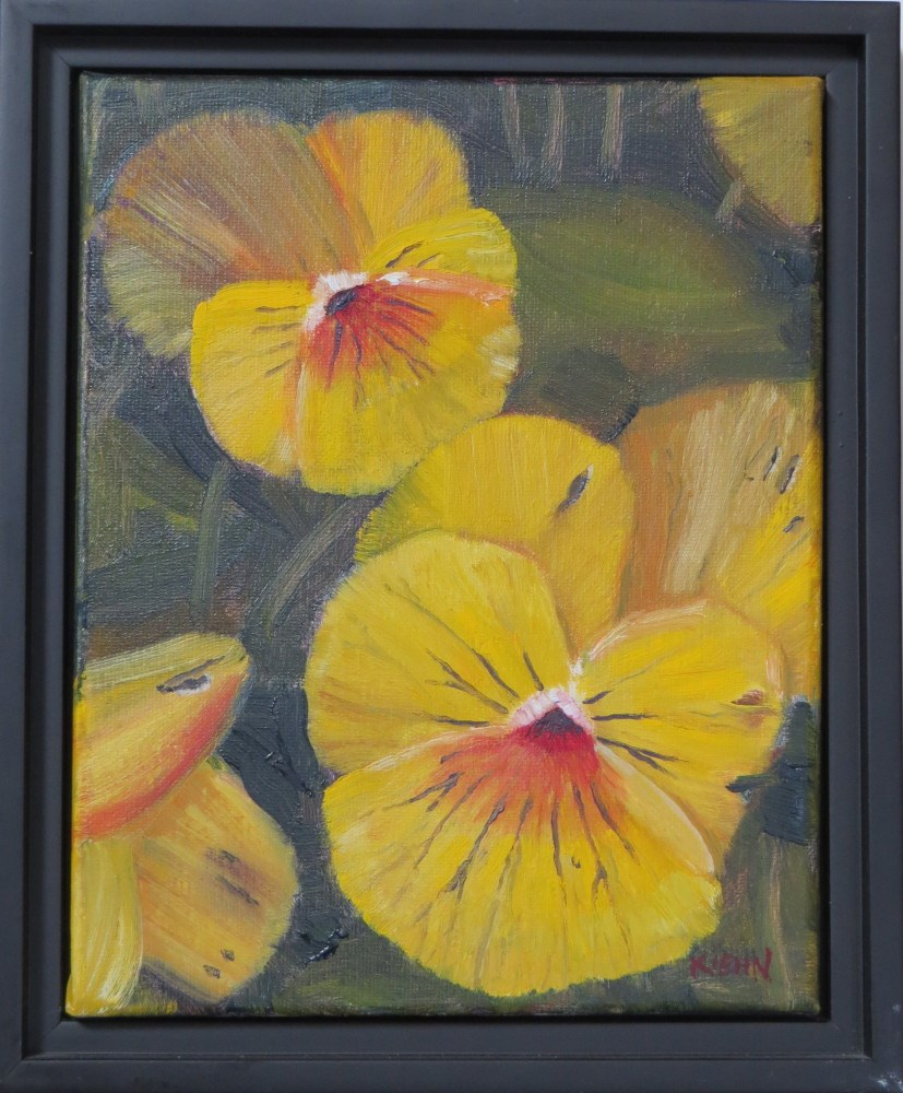 """Yellow Pansies"" original fine art by Richard Kiehn"