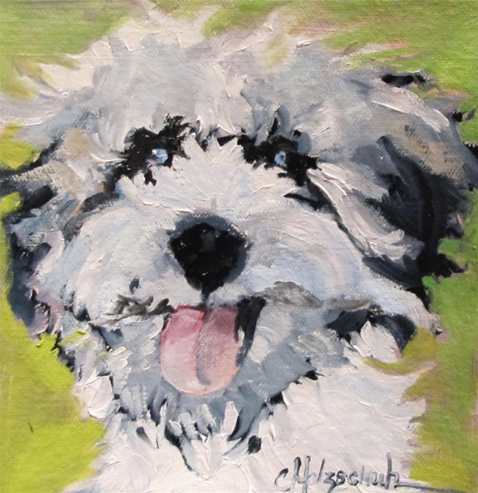 """Rufus"" original fine art by Christine Holzschuh"