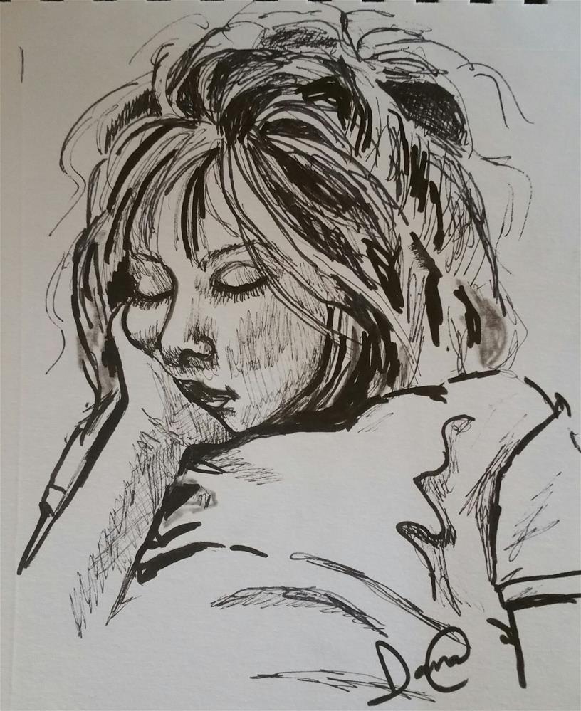 """Nap Time"" original fine art by Dana C"